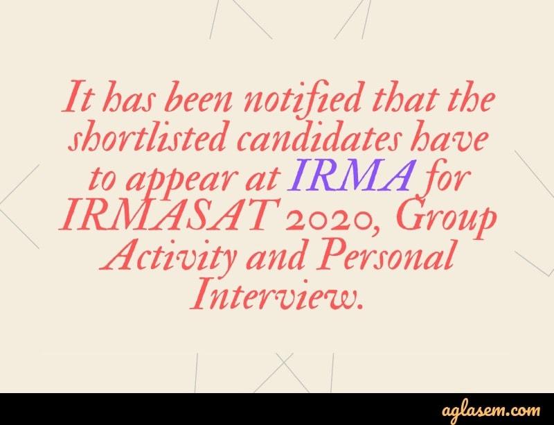 IRMASAT 2020 test centre