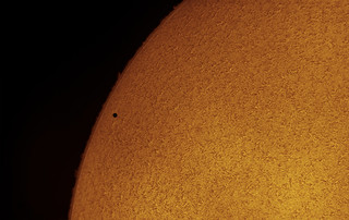 Mercury transit in H-Alpha | by Alessandro Carrozzi