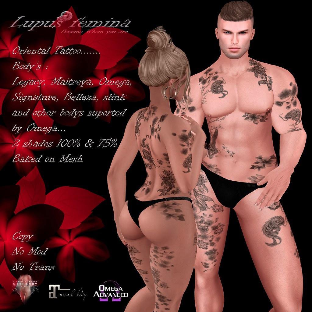 """""""Lupus Femina"""" Oriental Tattoo W/Appl. & BOM"""