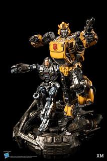 再現大黃蜂與史派克並肩作戰場景! XM Studios Premium Collectibles 系列《變形金剛》大黃蜂 Bumblebee 1/10 比例全身雕像
