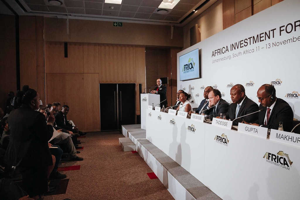 Africa Investment Forum: Africa room 2019: Opening Press Conference with Lead Partners African Development Bank, Africa Export-Import Bank, Africa50, Africa Finance Corporation, Development Bank of Southern Africa, European Investment Bank, Islamic Develo