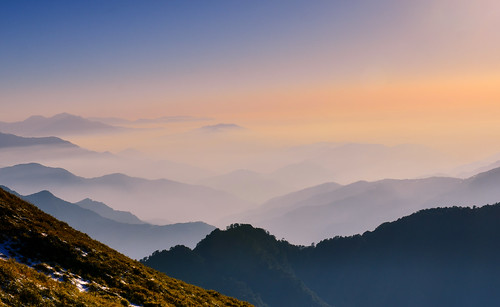 taiwan nantoucounty renaitownship hehuanmountain mountain sunset outdoors scenery landscape cloud 台灣 南投縣 仁愛鄉 合歡山 雪霸國家公園 夕陽