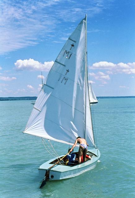 Sailing, on Lake Balaton, Hungary,  1978