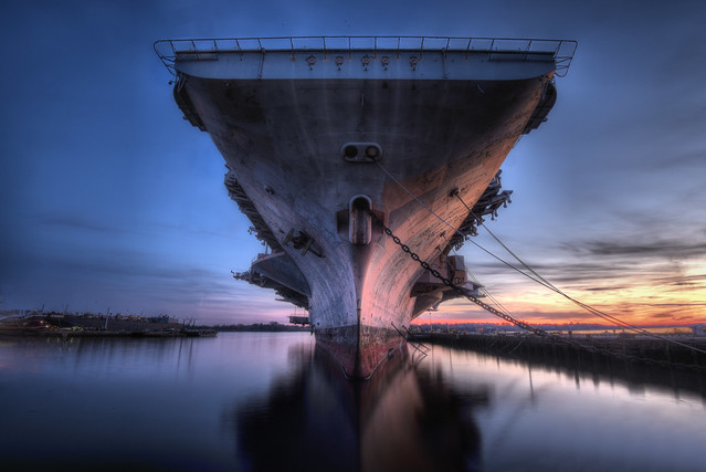 Sunset at the Navy Yard