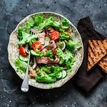 warm steak salad...