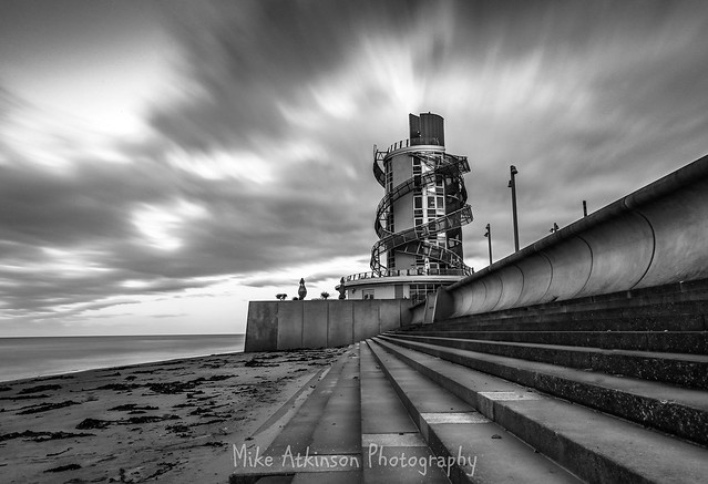 Redcar Beacon Long Exposure (Mono)