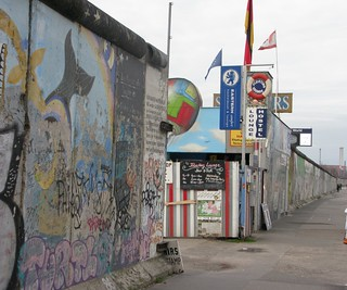 Berlin Wall viewed from Mühlenstraße, Berlin, December 2008