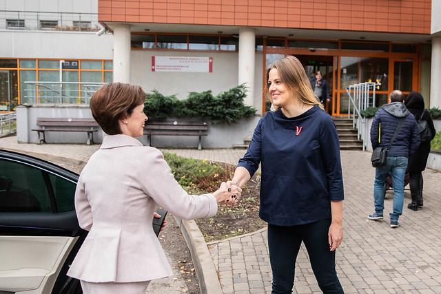 """12.11.2019. Andra Levites kundze piedalās akcijas """"Meklējam sirdsmāsiņu"""" atklāšanā"""