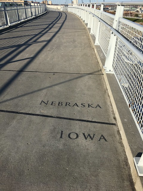 Walked from Nebraska to Iowa
