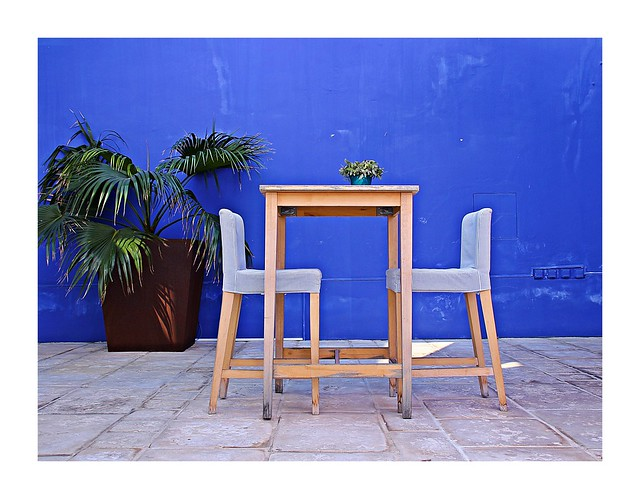 A table with two chairs!