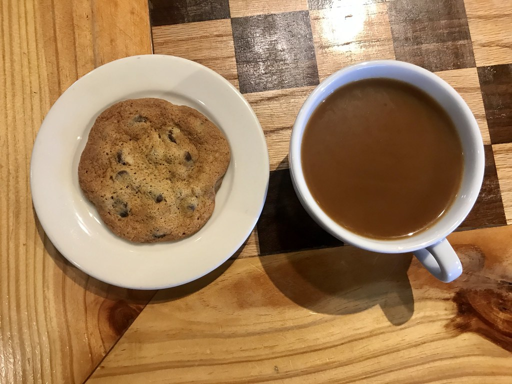 cookie and coffee at Black Sheep Coffee
