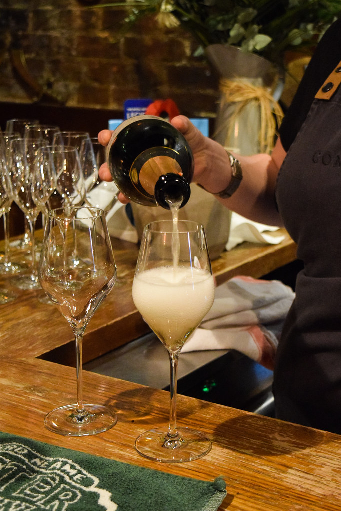 Gusborne English Sparkling Wine at The Compasses Inn, Crundale