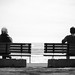 black-and-white-sitting-waiting-young-90639