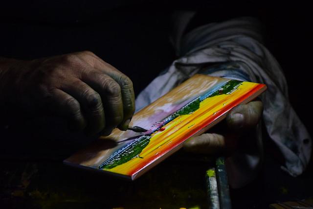 las manos del artista