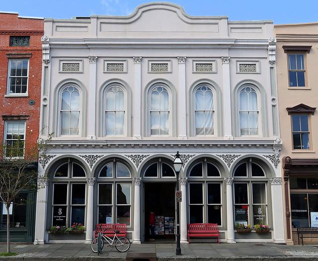 Red benches:  229 Meeting Street (c.1850), Charleston, SC