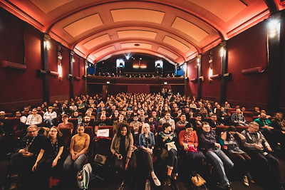 Conference attendees sitting down at ffconf