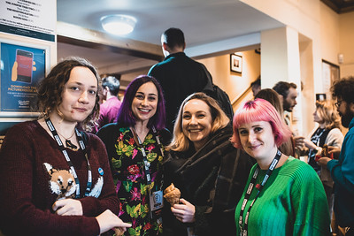 Photo of me with three other developers at FFConf