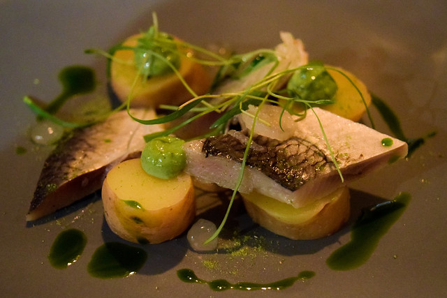 Soused Herring, Dill Mayo and Pickled Shallots at The Compasses Inn, Crundale
