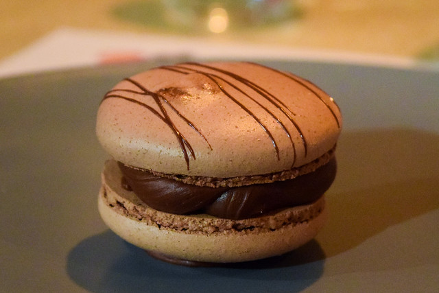 Chocolate Salted Caramel Macaroon at The Compasses Inn, Crundale