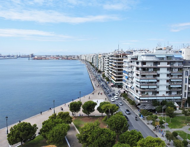 Aerial View of Thessalonica Waterfront