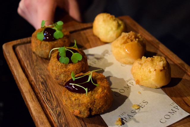 Canapes at The Compasses Inn and The Small Holding Guest Chef Dinner