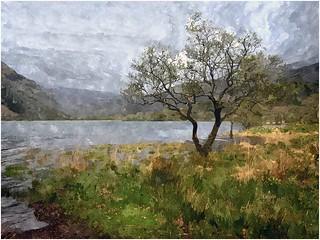 Llyn Gwynant Snowdonia painterly