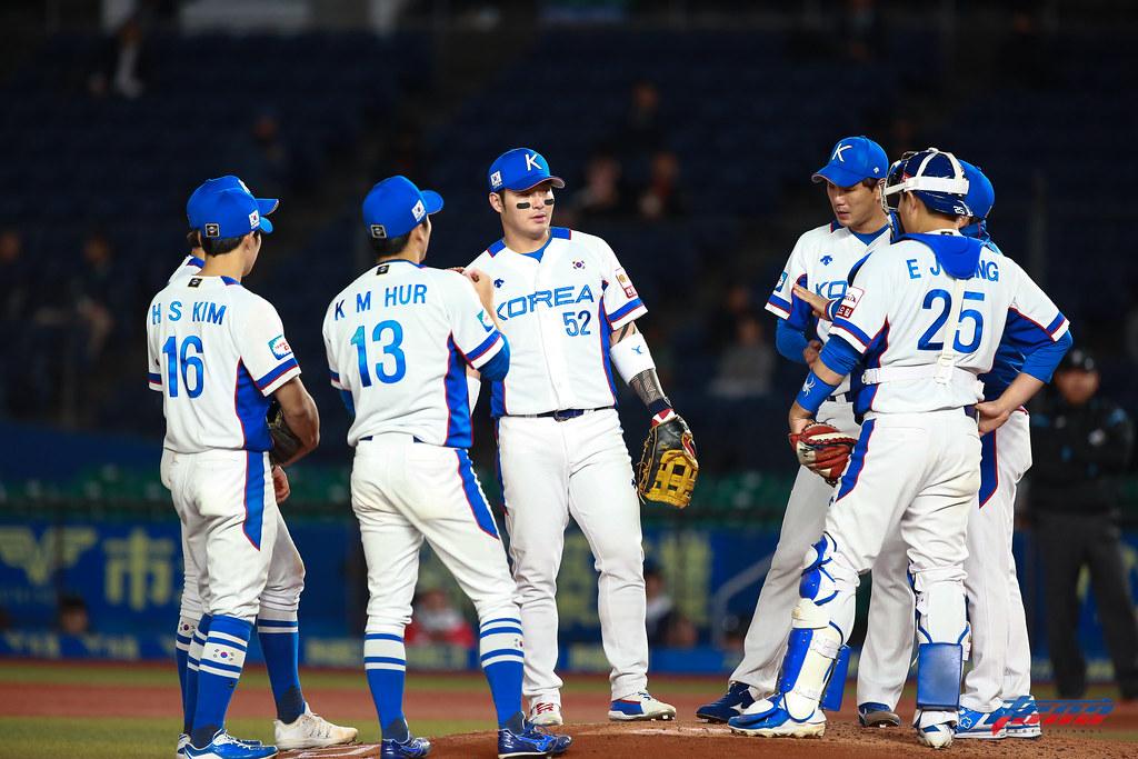 世界棒球12強韓國隊。(資料照,特約攝影侯禕縉/現場拍攝)
