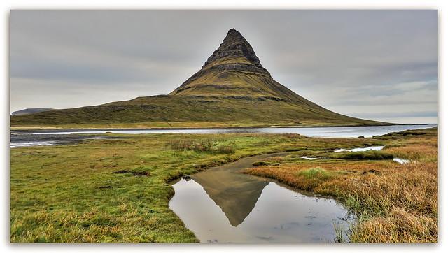 Doppelte Bergspitze