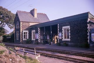 Minffordd station, Ffestiniog Railway, on 24th October 1965.