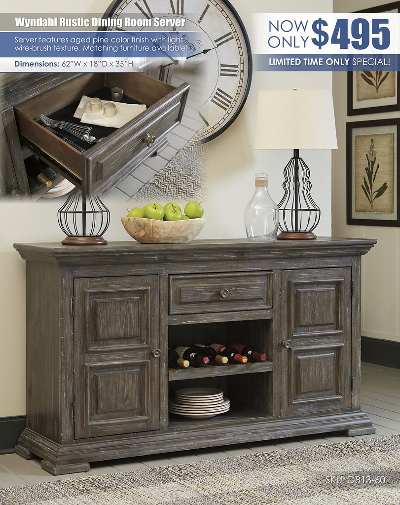 Wyndahl Rustic Dining Server_D813-60