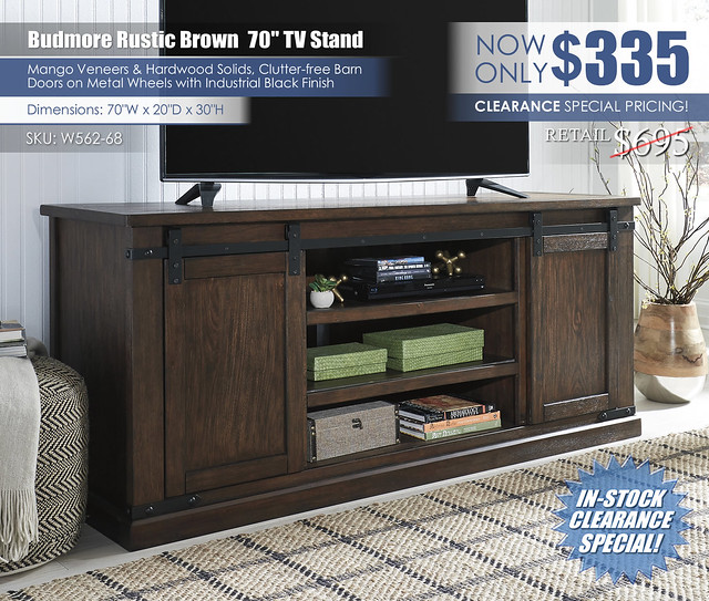 Budmore XL TV Stand_W562-68_ClearanceNew
