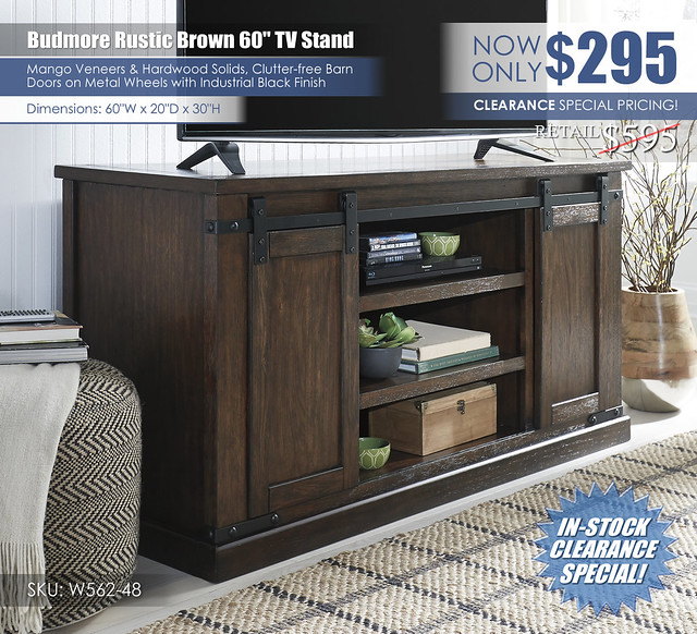 Budmore 60in Stand_W562-48_Clearance