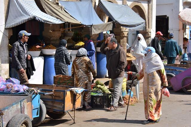 Scène de marché à Essaouira