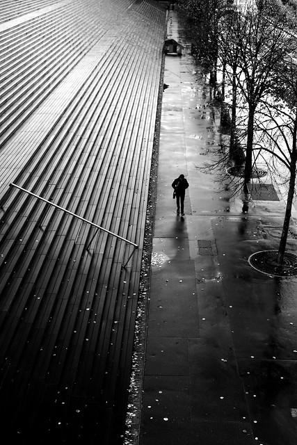 On the long sidewalk