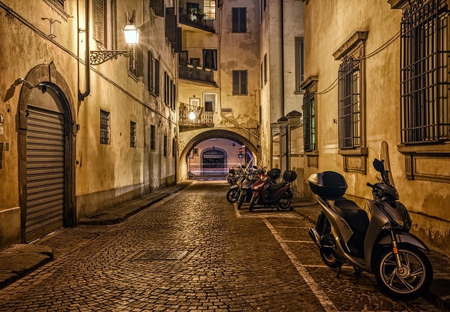 Arched Backstreet Night