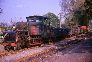 Ffestiniog Railway diesel loco, Moelwyn, at Minffordd on 24th October 1965.