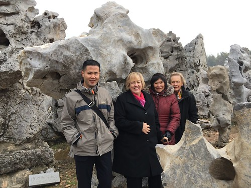 Curator Shawn Yuan, Director Katie Luber, Curator Emily Sano, Board Member Rosario Laird. From San Antonio Museum of Art Rocks With New Chinese Acquisition