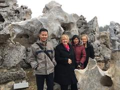 Curator Shawn Yuan, Director Katie Luber, Curator Emily Sano, Board Member Rosario Laird