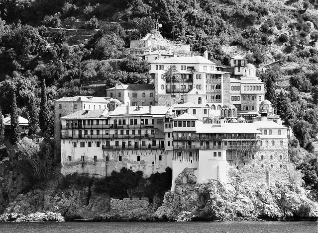 Mount Athos - B&W Monastery