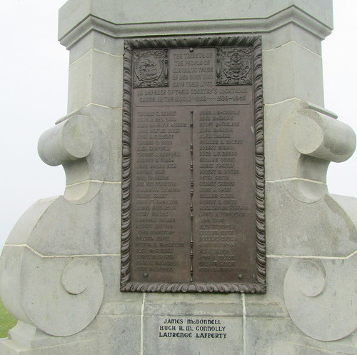 Girvan War Memorial, World War 2 Plaque