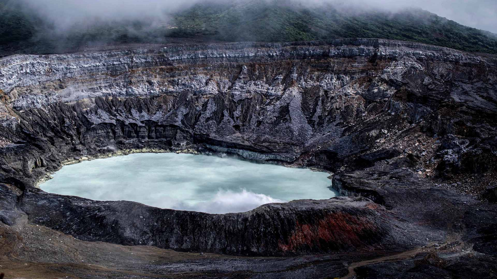Cratère de volcan