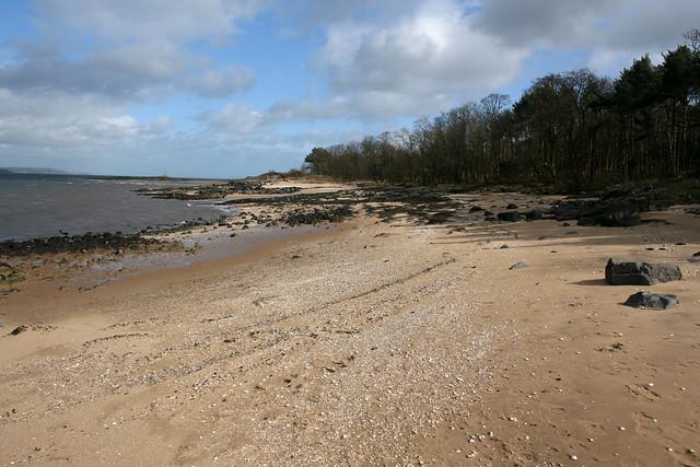 The beach at Dalmeny