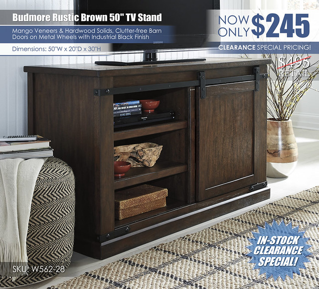 Budmore 50in TV Stand_W562-28_Clearance