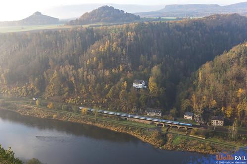 193 xxx . ČD . EC 178 . Schmilka-Hirschmühle . 07.11.19.