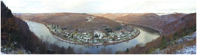 Panoramic view of the Allegheny River @ East Brady