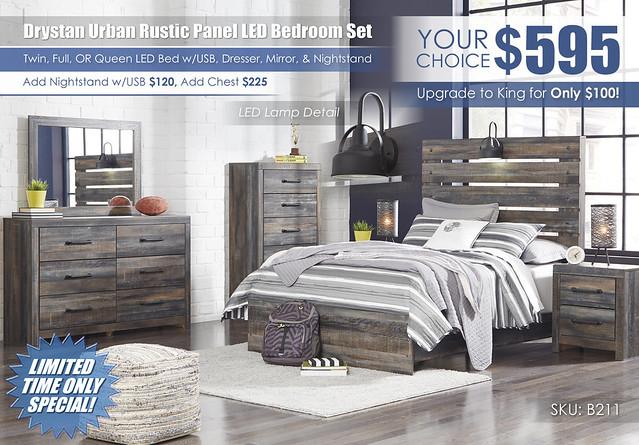Drystan Urban Rustic Twin or Full Bedroom Set_B211-31-36-46-87-84-86-92_stamp