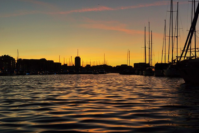 Vieux-Port at sunset