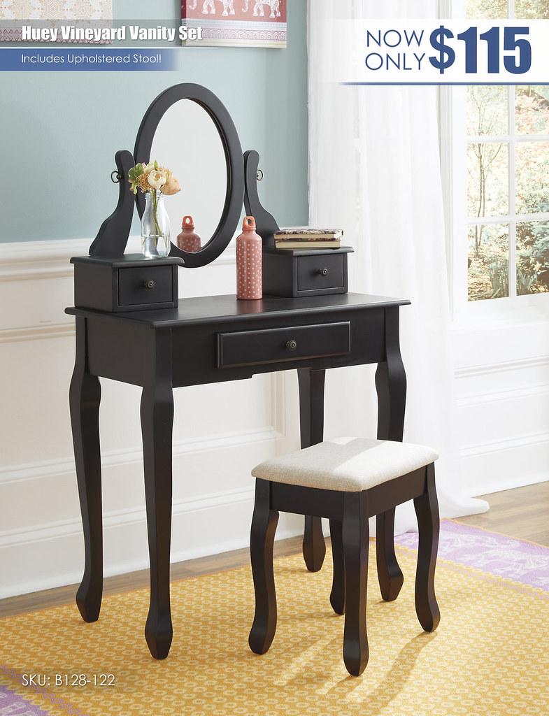 Huey Vineyard Vanity Set_B128-122
