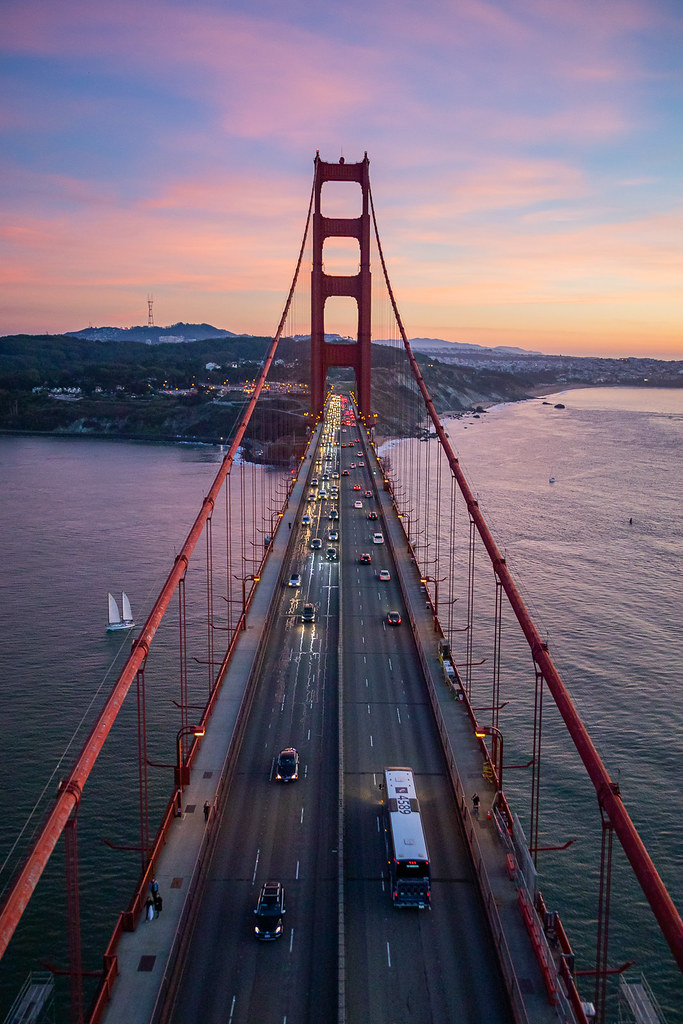 San Francisco Golden Gate Bridge Aerial (Helicopter)