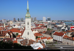 View from Bratislavsky hrad, Bratislava, Slovakia